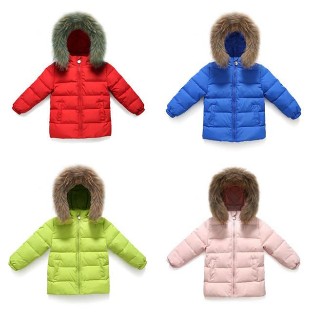 2017 inverno menino casaco quente roupas de inverno meninas das crianças 4 cores pato para baixo parka casaco infantil à prova d' água outerwear & casacos
