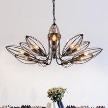 Американская деревенская железная Подвесная лампа, простые садовые европейские ретро современный сад для гостиной столовая подвесные светильники LO72810