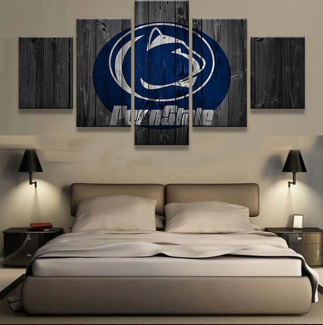 5 Pieces Penn State Nittany Lions Sports Modern Home Wall Decor Canvas Picture Art Hd Print