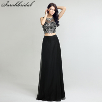 Sexy Charming Ever Pretty Evening Dress 2017 With A Line Jewel Sleeveless Chiffon Beading Crystal Two