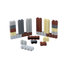 50 шт. кубики Moc 1X2 1x4, настенные Кирпичи DIY, Обучающие строительные блоки, кирпичи, игрушки для детей, совместимые с Legoed 30137, сборные частицы