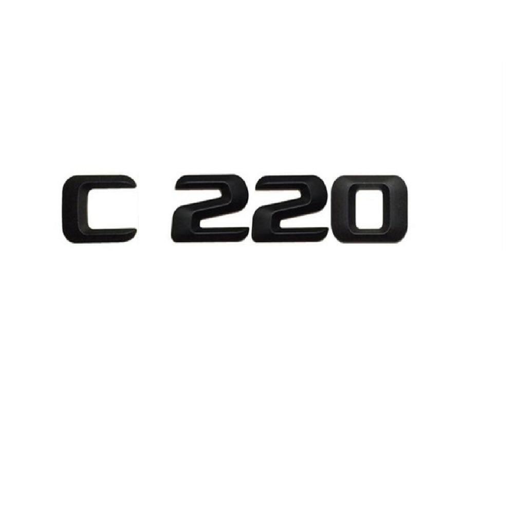 Gloss Black C 200 Letters Trunk Emblem Badge Sticker for Mercedes Benz C200