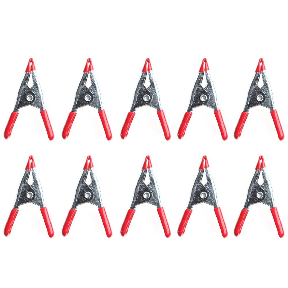 """10PCS Metal Spring Clamps 2 /""""Clip Conseils en plastique souple Grip Photos Craft"""