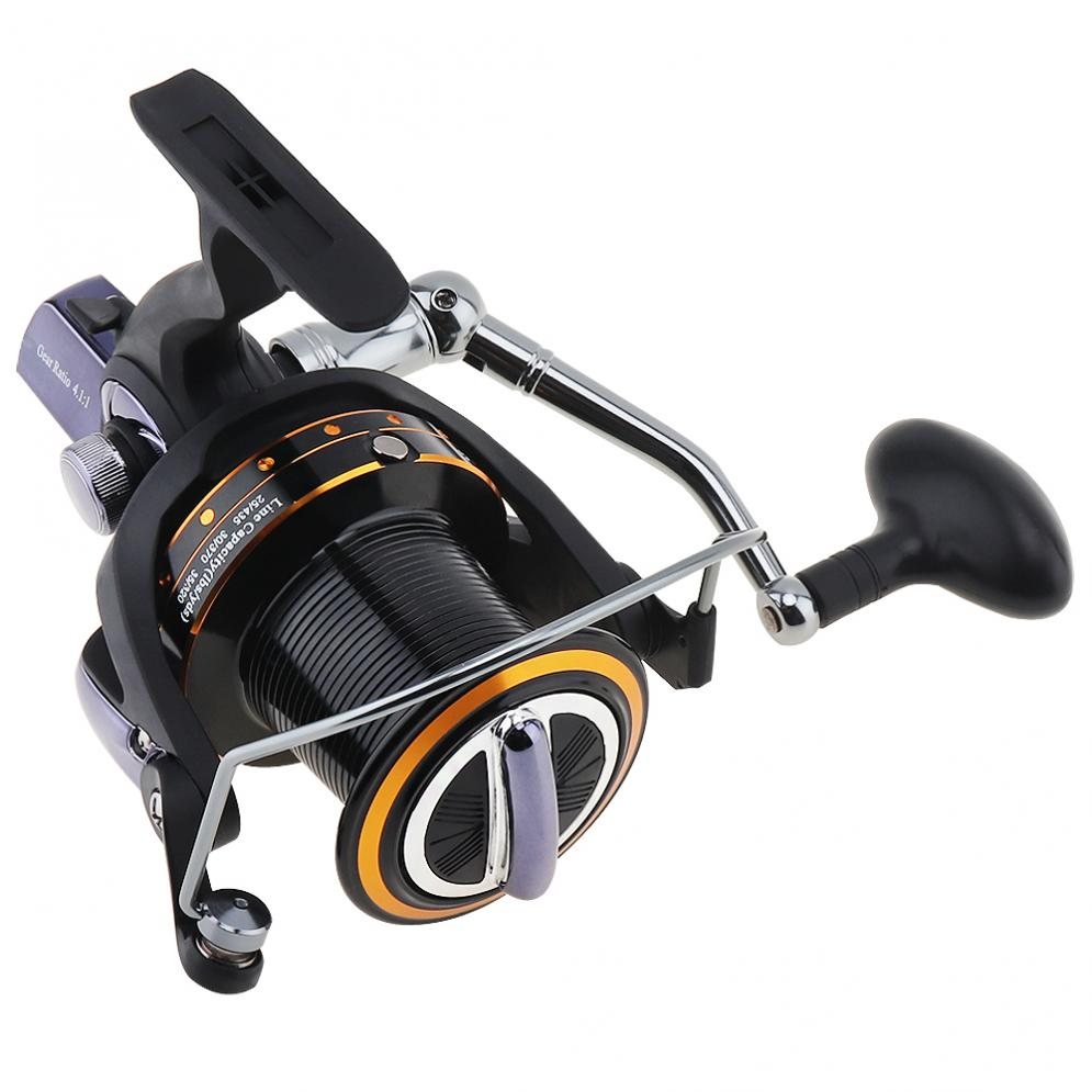 11000 Series 13+1 Ball Bearing 4.1:1 Fishing Reel Trolling Long Shot Casting Big Sea Spinning Wheel with Full Metal Rocker Arm стоимость