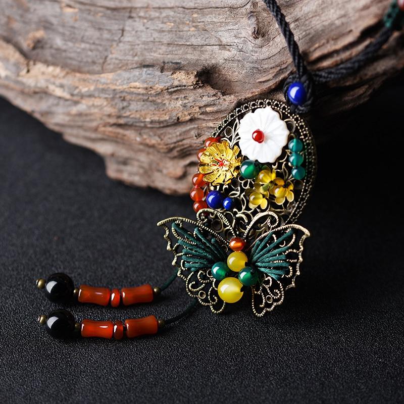 Slatka džemper vintage ogrlica za žene dugi konopac lanac brončane - Modni nakit - Foto 4