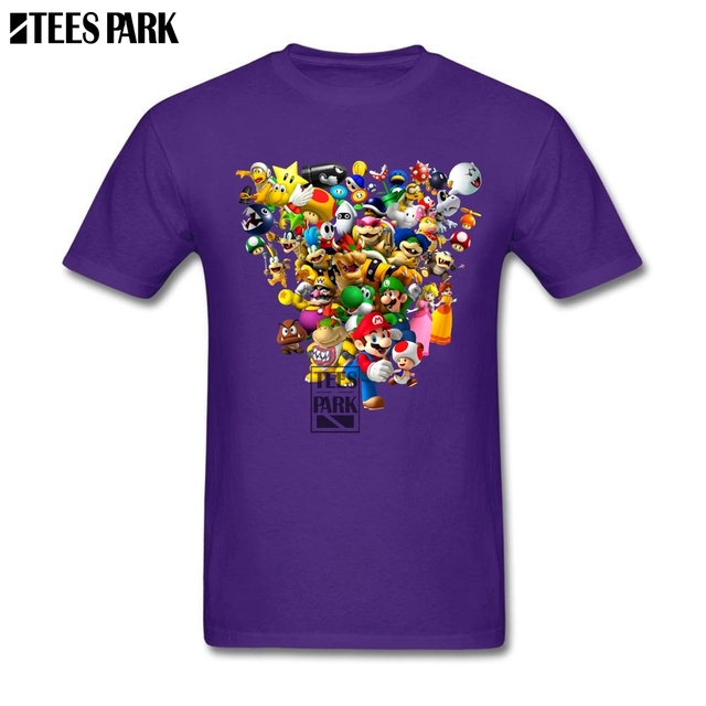 ed06b6c5 His And Her T Shirts Mario Bros All Star Video Game Fitted T Shirts ...