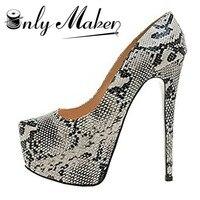 Onlymaker Pumpen Schuhe frauen 16 cm Ferse 5 cm Plattform Innerhalb Wasserdicht Spike Schuhe Sexy Stiletto Hochzeit Schuhe Plus größe 13