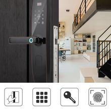Smart Touch Screen Door Lock Card Fingerprint Password Unlock with Mechanical Key Smart Door Lock electronic smart door lock for hotel apartment free style handle fingerprint card mechanical key stainless steel