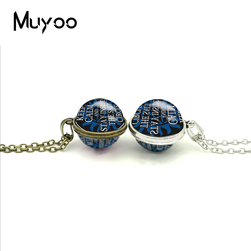 2018 New Stay Inside The Salt Double Sided Pendant Supernatural Necklace  Glass Art Printed Photo Pendants Handmade Jewelry