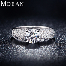 MDEAN White Gold Color Rings For Women Wedding Jewelry Bijoux zirconia vintage Accessories Engagement Bague Bijouterie