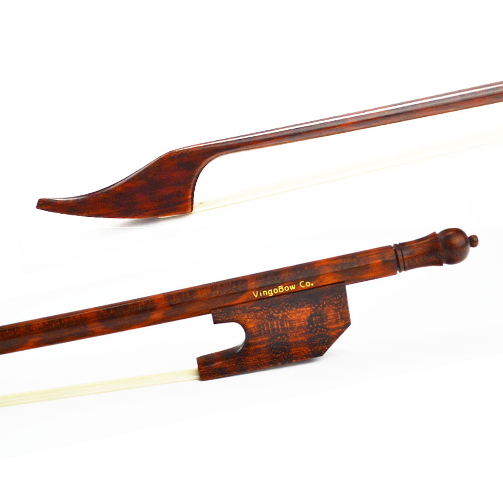 600V 4/4 Full Size Light Baroque VIOLIN BOW Snakewood Stick and Frog Natural Mongolia Horsehair Straight Violin Part Accessories 1 4 size 812vb pernambuco violin bow high density ebony frog with nickel silver good quality hair straight violin accessories