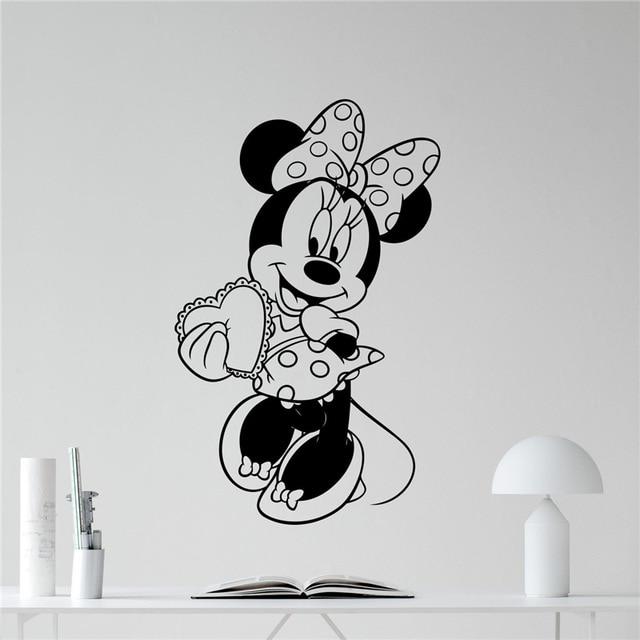 Minnie Maus Vinyl Wandtattoo Mädchen Kinder Nette Herz Liebe ...