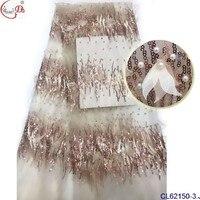 5 ярдов высокого качества 3d Цветы вышитые кружева африканских Ткань для торжественные платья 3D цветами ручной работы шифон французского кр