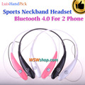 Luishandpick estilo bluetooth 4.0 auriculares estéreo bass auriculares deportes auricular inalámbrico para iphone samsung soporte 1 arrastre 2 dispositivo