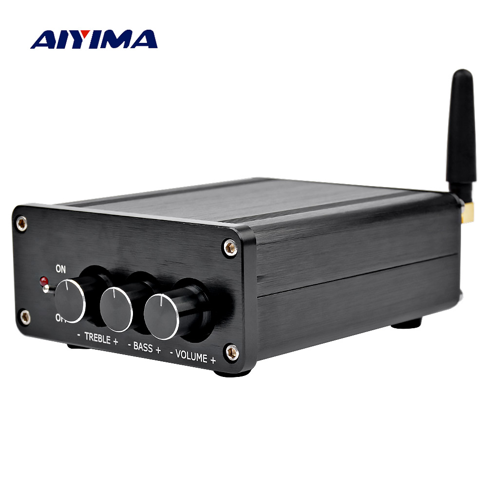 Aiyima tpa3116 amplificador de áudio digital amplificador 2.0 alta fidelidade bluetooth 4.2 classe d estéreo alta potência amp 100 w * 2 teatro em casa