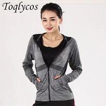 Running Jacket For Women  Zipper Long Sleeve Sport Fitness Ladies Hoodies Sports Womens Clothing 201