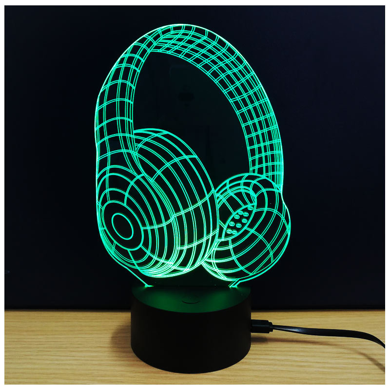 3D Visual Creative 7 Colorful Piano Nightlight Led Animal Desk Lamp Usb Lighting Fixture For Living Room Decor