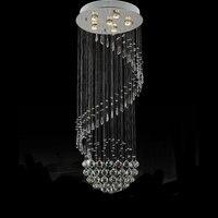 50*130 см большой ModernCrystal люстра огни дождь люминисцентный светильник Декор Блеск подвеска лампы люстры осветительное оборудование