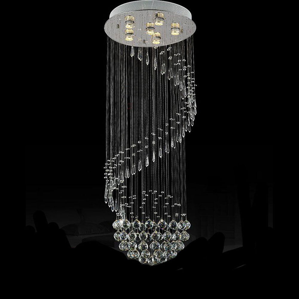 50130cm large moderncrystal chandelier lights rain drop luminaire 50130cm large moderncrystal chandelier lights rain drop luminaire decor luster pendant lamps chandeliers lighting fixture in chandeliers from lights arubaitofo Image collections