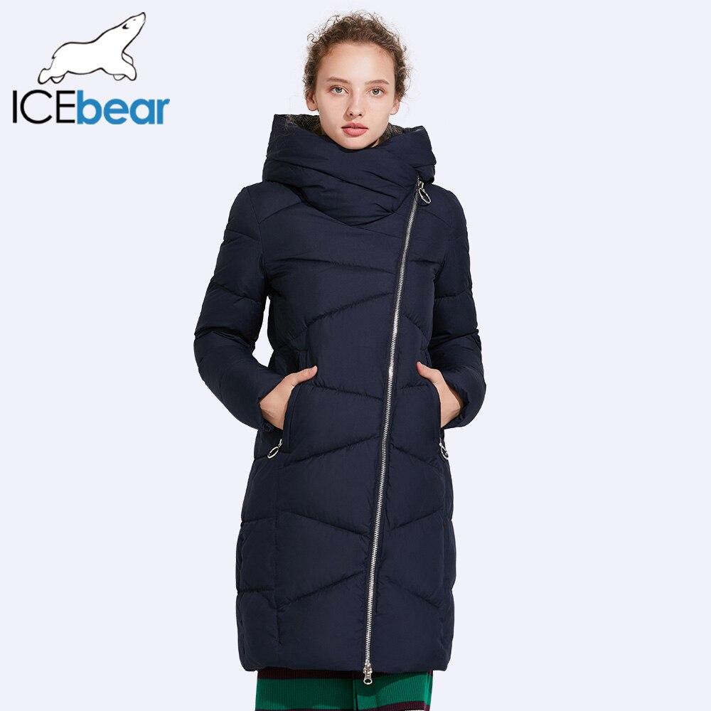 ICEbear 2017 шляпу съемный пальто Для женщин в Для женщин Мужские парки ветрозащитный рукава открытие теплое пальто средний Длина теплые 17G6102D