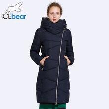 Icebear 2017 sombrero no extraíble abrigo de las mujeres parkas viento apertura abrigo medio longitud caliente 17G6102D