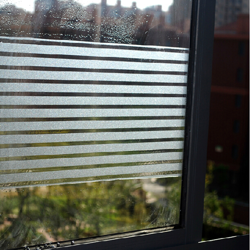 Frosted Static Sliding Door Glass Stickers Office Window