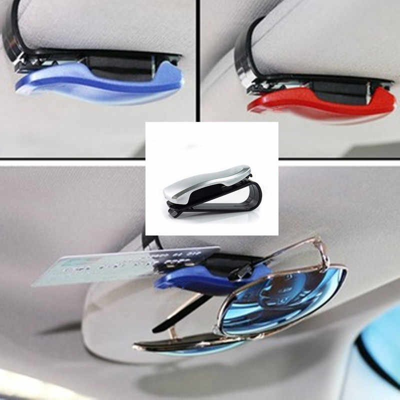 Hot Car Auto Sun Visor Glasses Sunglasses Clip Card Ticket Holder Pen Case Box Universal Accessories