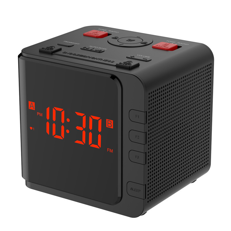 Reasonable 12/ 24 Hours Am/fm Radio Clock adjustable Backlight Dual Snooze Alarm Table Clock Cheap Sales 50% Red Led Large Number Display Desktop Clock