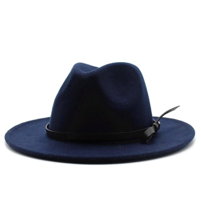 Wool Jazz Hat - Large Brim Fedora 1