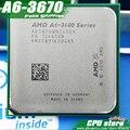 Бесплатная доставка AMD A6 3670 К Четырехъядерных Процессоров FM1 2.7 ГГц 4 МБ 100 Вт процессор шт A6-3670 ВСУ Интегрированная графика, продать 3650