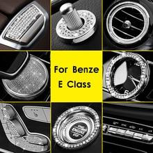 Orologio Anello di Sede Regolare Copertura del Tasto di Aria Presa di Copertura Trim Diamante Interni Auto Accessori Styling Per Mercedes Benz Classe E