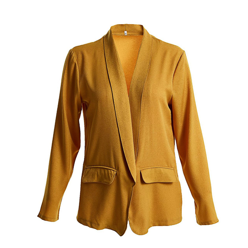 Susi&Rita 5XL Casual Blazer Jacket Women 2019 Long Sleeve Autumn Jackets Plus Size Winter Loose Coat Elegant Ladies Blazer Mujer