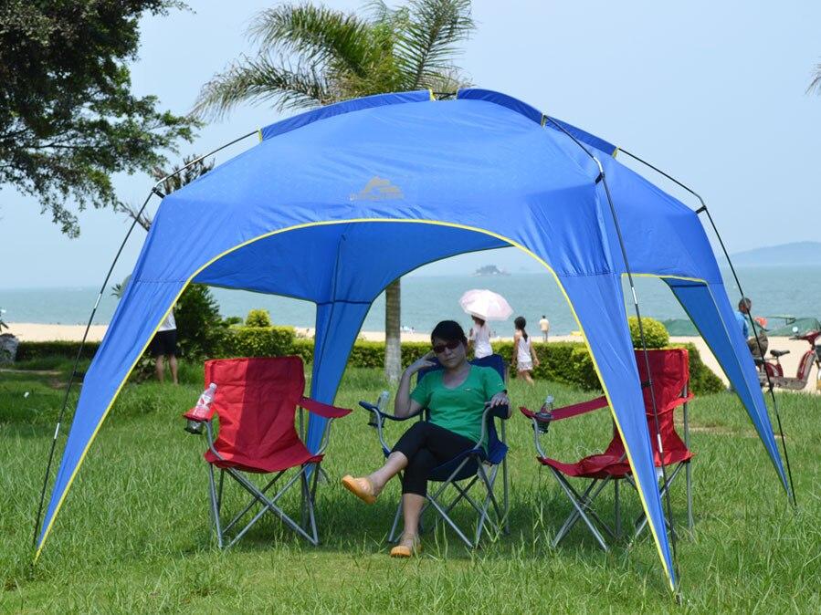 2015 nouveau style haute qualité super taille 300*300*215 CM 5-8 personne tente de plage abri solaire