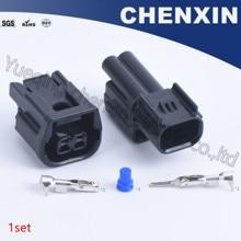Zwart 2 pin auto auto connector (1.5) mannelijke en vrouwelijke HX Verzegelde Serie Auto Dagrijverlichting Plug 6181 6851 6189 7408