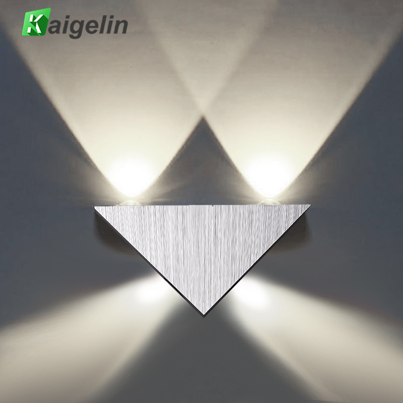 Kaigelin 4x1W LED háromszög alakú fali lámpa 85-265V fali lámpa - Beltéri világítás