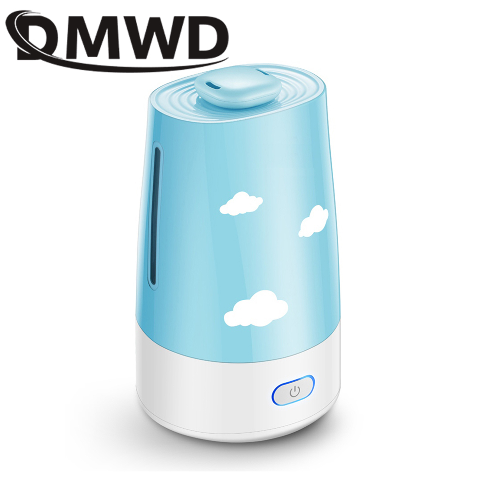 DMWD Ultrasonic Air Humidifier Essential Oil Diffuser Electric Aroma Diffuser Mist Maker Aromatherapy Machine for Home Office humidifier home mute high capacity bedroom office air conditioning air purify aromatherapy machine