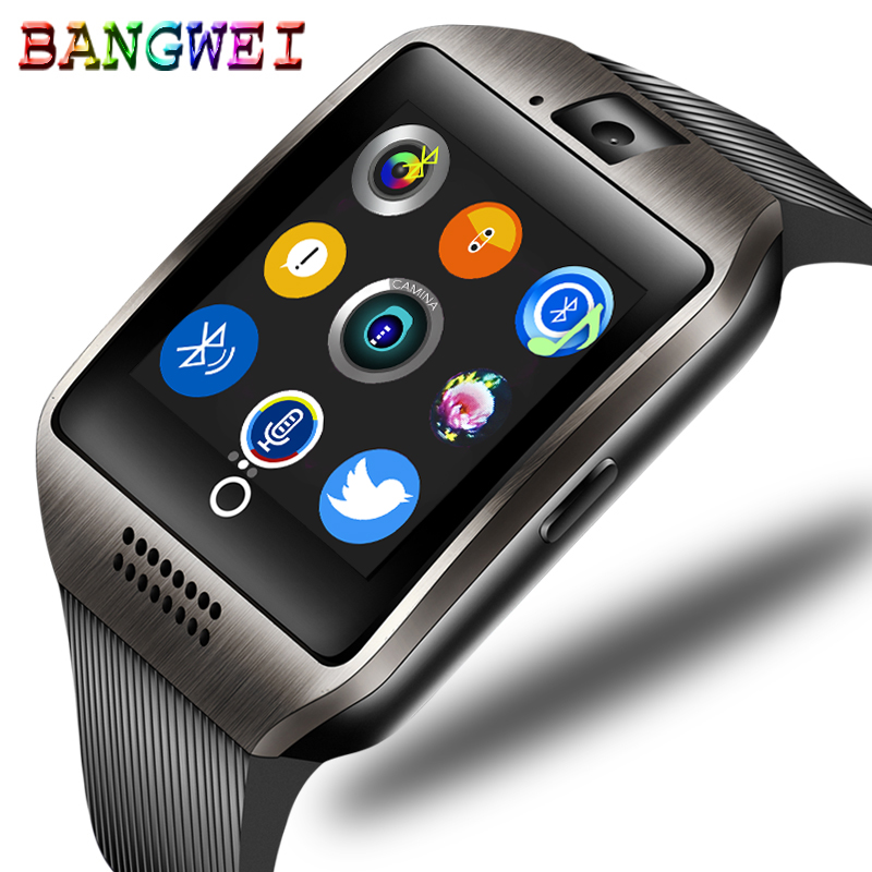 BANGWEI Bluetooth Smart Watch Connect Mobile Phone Music Play Alarm Clock Anti-lost Support TF SIM Camera Smart Watch stylish smart watch phone support sim tf