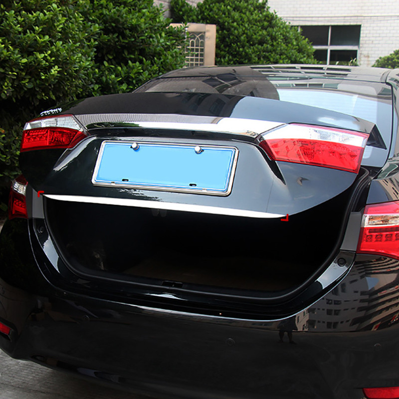 Fit For Toyota Corolla 2014 2015 2016 2017 Rear Trunk Lid Edge Tailgate Boot Door Bottom Cover Trim Garnish Molding Strip