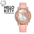 2016 New Brand Hello kitty watch Fashion Quartz kitti watch Women High Quality lovely designer hellokitty watches montre enfant