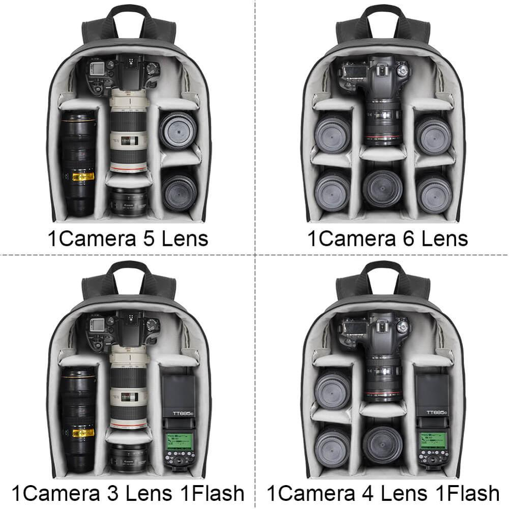 Image 3 - CADeN Multi functional Camera Backpack Video Digital DSLR Bag Waterproof Outdoor Camera Photo Bag Case for Nikon/ Canon DSLR-in Camera/Video Bags from Consumer Electronics