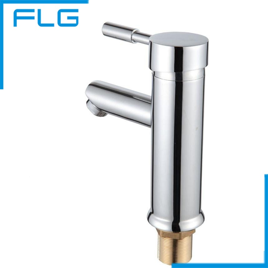 ФОТО Zinc Alloy Handle Chrome Finishing Brass Body Bathroom Faucet, Basin Mixer Tap Mitigeur Salle De Bain