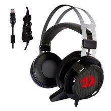 Redragon USB 7.1 каналов Surround игровая стереогарнитура наушники с микрофоном отдельных вибрации Шум cancanceling LED