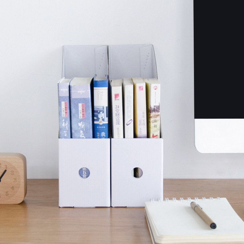 WCIC Document Holder Paper Bookshelf Office Folder Storage Information Frame Book Box Desktop In Boxes Bins From