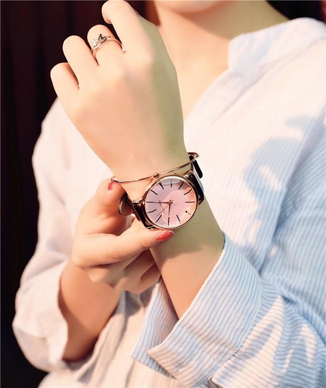 Polygonal dial design women watches luxury fashion dress quartz watch ulzzang popular brand white ladies leather wristwatch 13