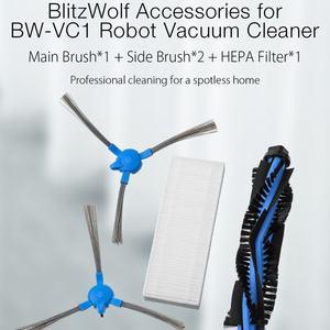 Image 4 - BlitzWolf เครื่องดูดฝุ่นหลักแปรง + แปรงด้านข้าง 2 ชิ้น + HEPA Filter สำหรับ BW VC1 เครื่องดูดฝุ่นหุ่นยนต์สมาร์ทบ้านอะไหล่