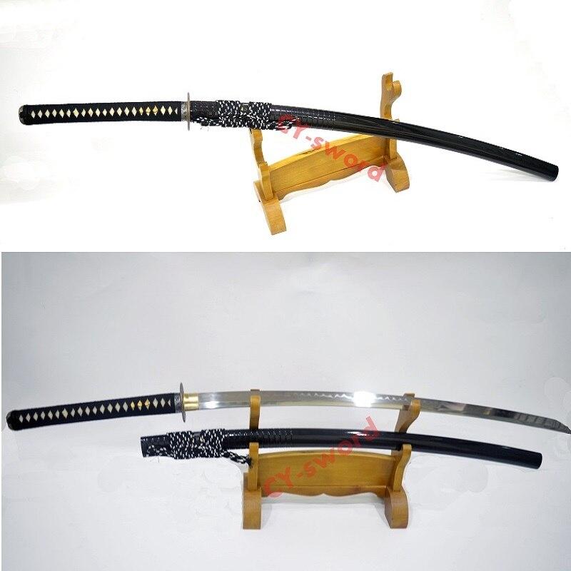 """Ev ve Bahçe'ten Kılıçlar'de 51.2 """"El Yapımı yüksek kaliteli kil temperli japon NoDachi katana jilet sharp blade Kılıç'da  Grup 1"""