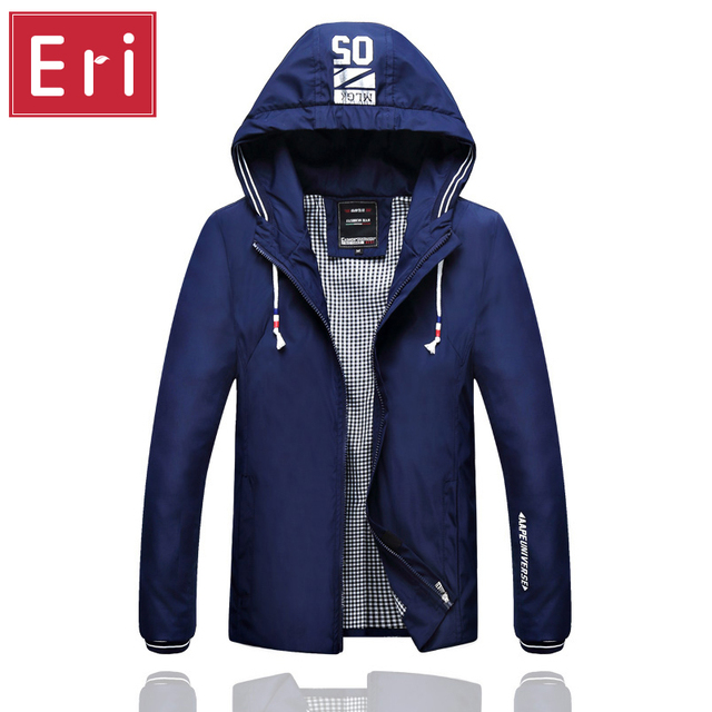 Fashion Men's Jacket 2017 Spring New Men Jackets With Hood Brand Jacket Casual Spring & Autumn Jacket Slim Fit 3XL 4XL 5XL X380