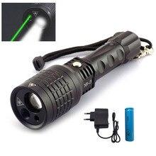 Promo offer 3 LED Lamps Multifunction flash light red Green Laser Pointer Flashlight Hunt Adjustable Flash lights lazer +18650 + charger