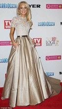 Hot Selling paolo sebastian Short Sleeve Lace Red Carpet 2015 Celebrity Dresses Evening Gown Two Pieces GL