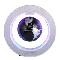 ACEHE Geography World Globe Magnetic Floating globe LED Levitating Rotating Tellurion World map school office supply Home decor